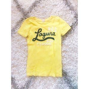 [SOLD]Small yellow Hollister short sleeve  T-shirt